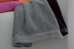 Ręcznik frotte - NAF NAF - 30x50 cm Casual grey - 100% Bawełna