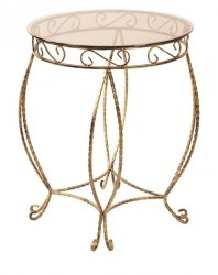 Stolik Szklany - Okrągły - Kawowy