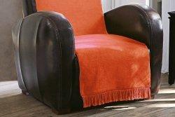 Narzuta na fotel - 50x200 cm - Pomarańcz