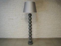 Lampa podłogowa - Szara - PERLA IX - 55x170cm