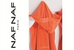 Pomarańczowy Szlafrok - 100% Bawełna - L - NAF NAF