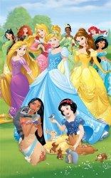 Fototapeta dla dzieci - Księżniczki Disney - 3D - 244x152cm