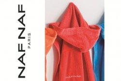 Szlafrok damski - Czerwony - 100% Bawełna - NAF NAF - S
