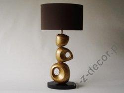 Lampa stołowa - UNIK - Złota - 40x27x77cm