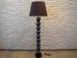 Lampa podłogowa - Dziewięć Pereł - Brązowa  55x170cm