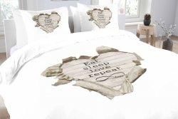 Pościel bawełniana -  Essara Love Repeat - 200x220 cm