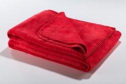 Koc - Czerwony - 130x180 cm - SoftLine Red