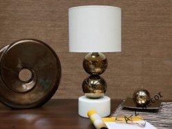 Lampka nocna - Złoto Kremowa 25x51cm