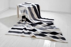 Koc - 150x200cm - Stripes grey