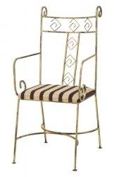 Krzesło metalowe - Retro - S