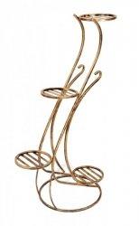 Kwietnik metalowy - Stojak na kwiaty - 4 Doniczki