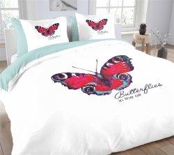 Pościel bawełniana -  Essara Butterfly - 200x220 cm