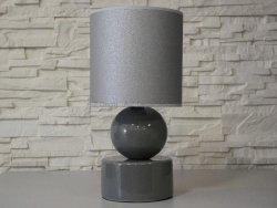 Lampka nocna - Szara - PERLA I - 20x39cm