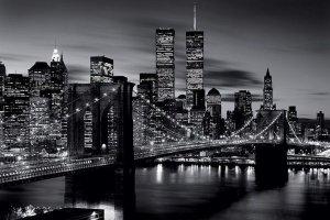 Brooklyn Bridge, New York (B&W) - plakat