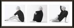 Obraz w ramie - Marilyn Monroe Sweater Tryptyk 95x33 cm