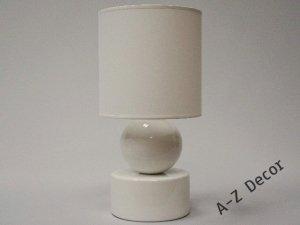 Lampka Nocna - Perła Biała - 20x39cm