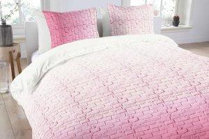 Pościel bawełniana -  ANEEZA Pink Brick - 200x220 cm