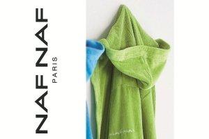 Szlafrok - Zielony - NAF NAF - XL - 100% Bawełna