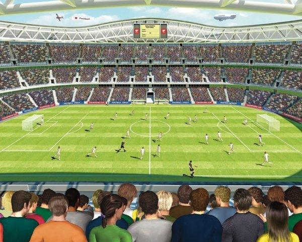 Fototapeta dla dzieci - Stadion Piłkarski - 3D - Walltastic - 243,8x304,8 cm
