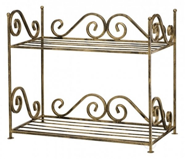 Functional, decorative double shoe cabinet.
