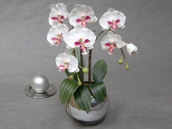 Sztuczny storczyk - Orchidea w doniczce - sklep internetowy decoart24.pl
