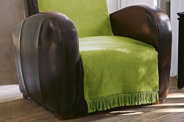 Narzuta na fotel - 50x200 - Oliwkowa