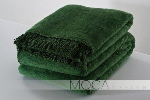 Koc - 150x200 cm - Kolor ciemno - zielony