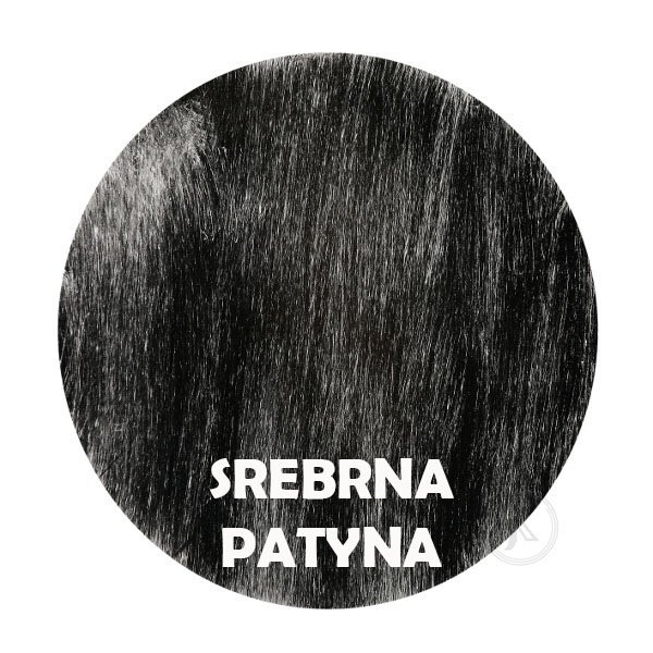 Srebrna patyna - kolorystyka metalu - Kwietnik metalowy - Stojak - Sklep