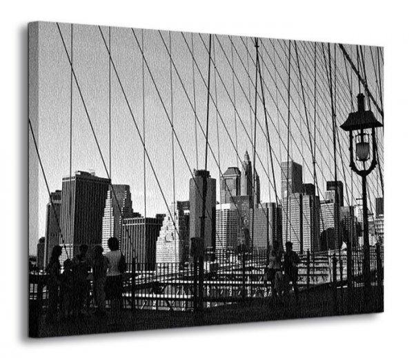 Obraz do salonu - New York Bridge - 120x90 cm - Dekoracje ścienne - Sklep DecoArt24.pl