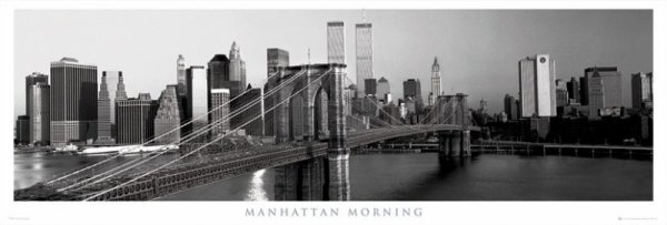 New York (Manhattan rankiem) - plakat