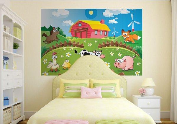 Fototapeta dla niemowląt  - Farma i zwierzaki - 175x115 cm