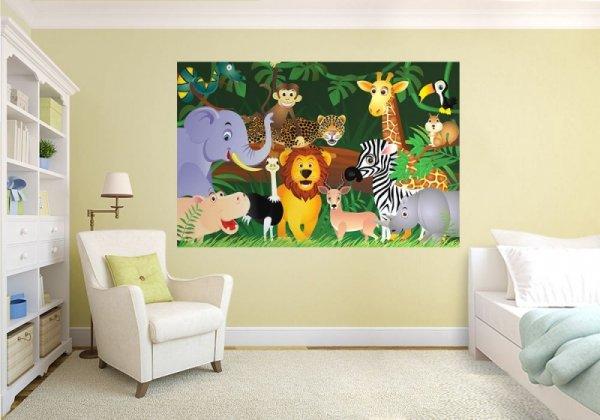 Fototapeta do pokoju dziecka - Dzikie zwierzaki - Fototapety dla dzieci - decoart24.pl