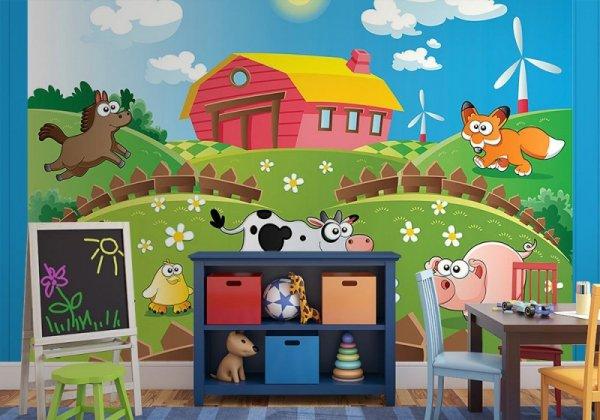 Fototapeta do pokoju dziecka - Farma i zwierzaki - Sklep decoart24