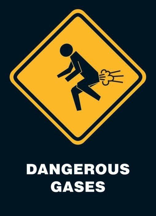 Niebezpieczne gazy - plakat