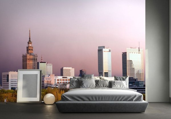 Fototapeta na ścianę - Warszawa, panorama miasta - 320x230cm
