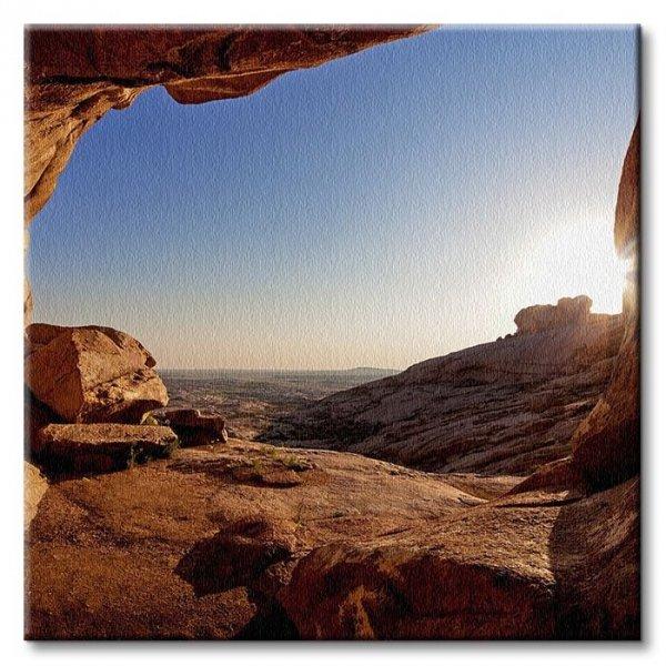 Grota na pustyni - Obraz na płótnie