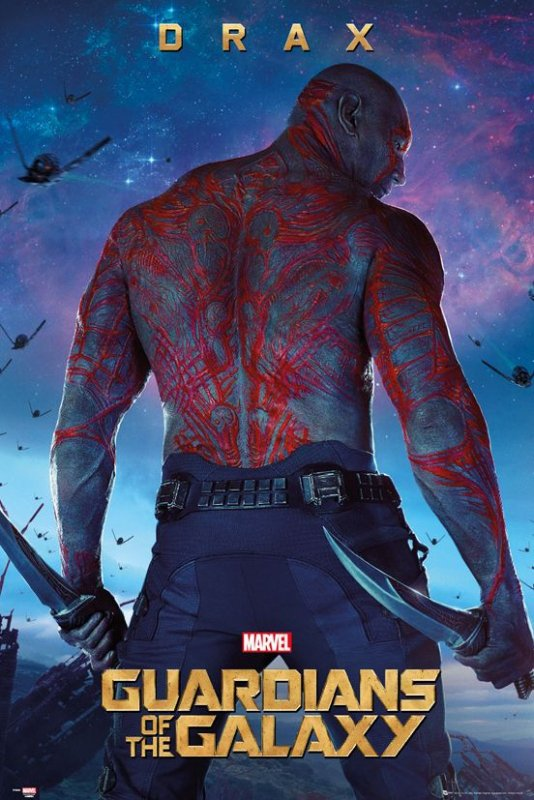 Guardians of the Galaxy Drax - plakat