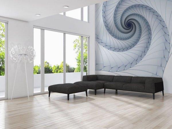 Fototapeta -  Niebieski spiralny fractal - 366x254cm