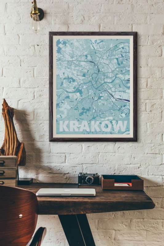 Plakat Do Biura Rzym Błękitna Mapa 61x915 Cm