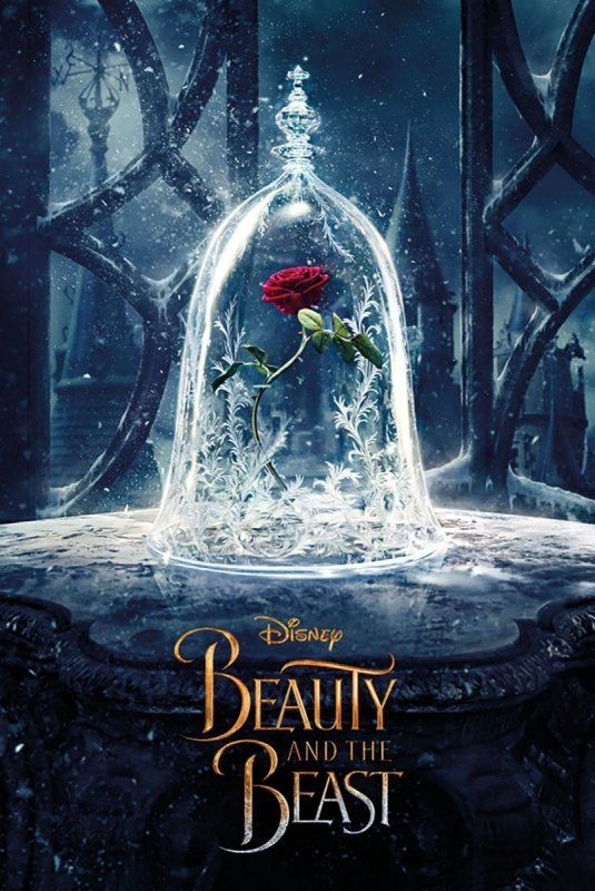 Piękna i bestia Zaczarowana Róża - plakat filmowy
