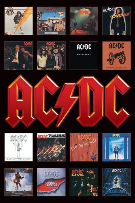 AC/DC (Album Covers) - plakat