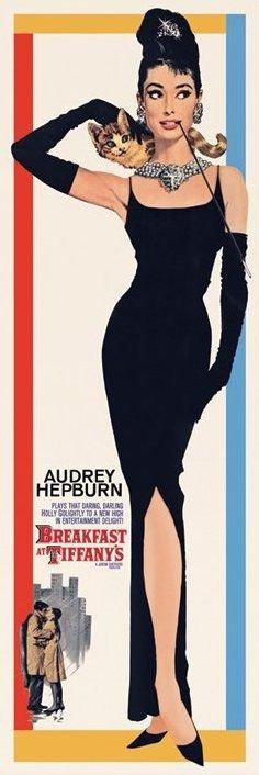 Audrey Hepburn (Breakfast At Tiffany's One-sheet) - plakat