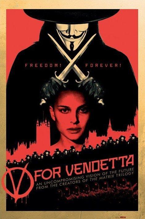 V For Vendetta (Red)  - plakat