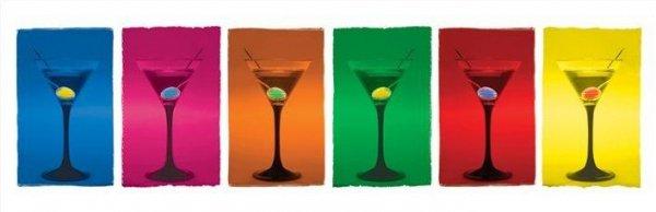 Martini Glasses (Pop Art.) - plakat