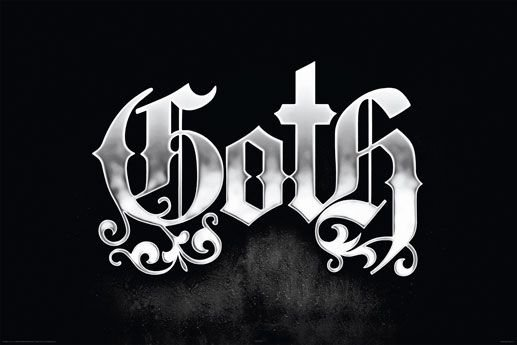 In Goth We Trust - plakat