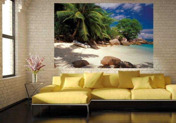 Fototapeta na ścianę - Seychelles, plaża - 175x115 cm