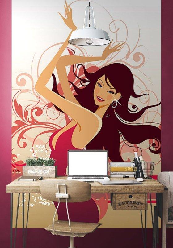 Fototapeta na ścianę - Tancerka - 115x175 cm