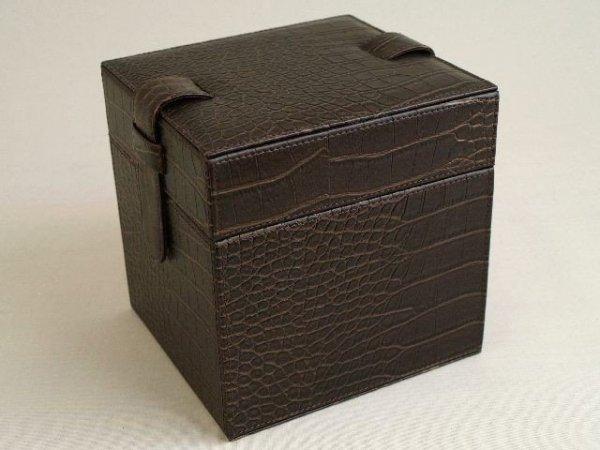 Pudełko na CD DVD - Ekoskóra - 15x17x17cm