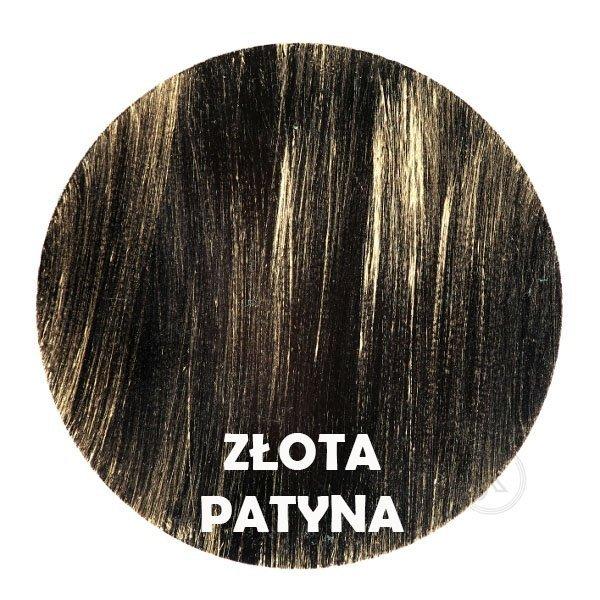 złota patyna - kolor metalu - Kwietnik - 3 Doniczki - Kwietniki Decoart24.pl