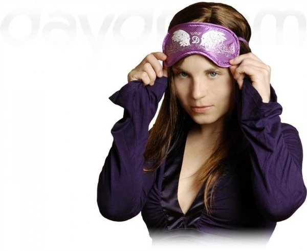 Opaska na Oczy - Wzór Swarovski Wings violet